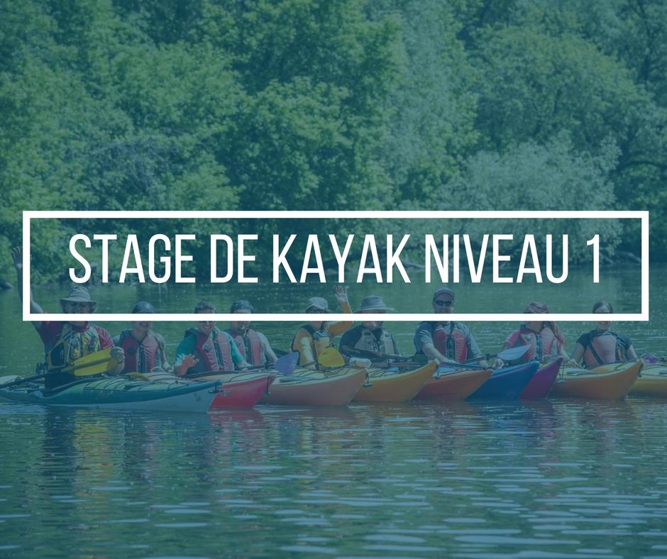 tage de kayak de mer Niveau 1 avec Nerrivik Aventures